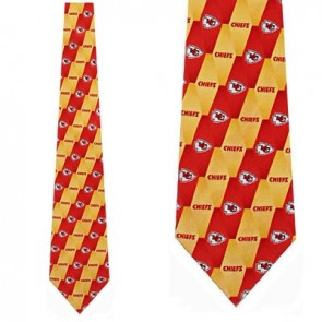 NFL Kansas City Chiefs Stripe Necktie