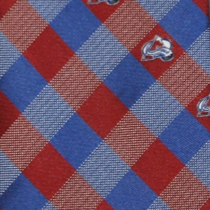 NHL Colorado Avalanche Woven Check Necktie