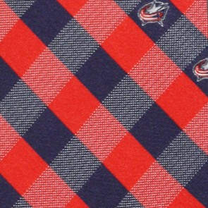 NHL Columbus Blue Jackets Woven Check Necktie