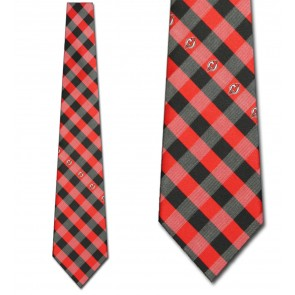 NHL New Jersey Devils Woven Check Necktie