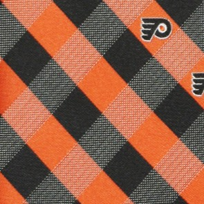 NHL Philadelphia Flyers Woven Check Necktie