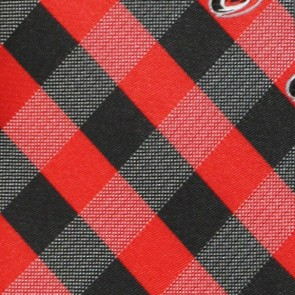 NHL Carolina Hurricanes Woven Check Necktie