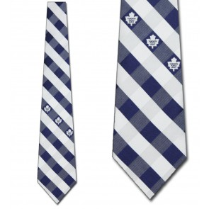 NHL Toronto Maple Leafs Woven Check Necktie
