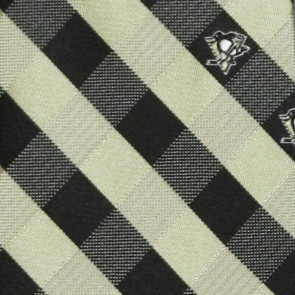 NHL Pittsburgh Penguins Woven Check Necktie