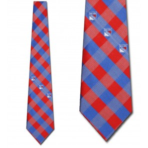 NHL New York Rangers Woven Check Necktie