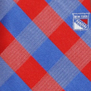 NHL New York Rangers Woven Check Necktie