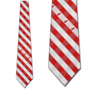 NHL Detroit Red Wings Woven Check Necktie