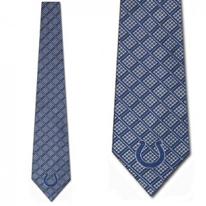 NFL Indianapolis Colts Woven Chex Necktie