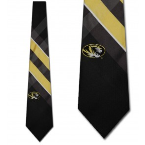 Missouri Tigers Grid Necktie