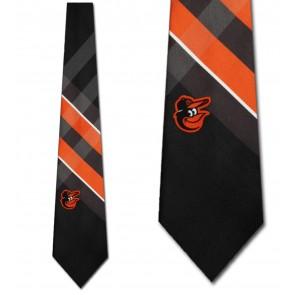 MLB Baltimore Orioles Grid Necktie