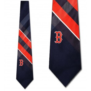 MLB Boston Red Sox Grid Necktie