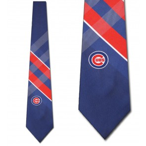 MLB Chicago Cubs Grid Necktie