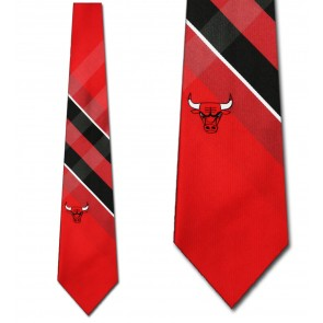 NBA Chicago Bulls Grid Necktie