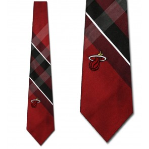 NBA Miami Heat Grid Neckties