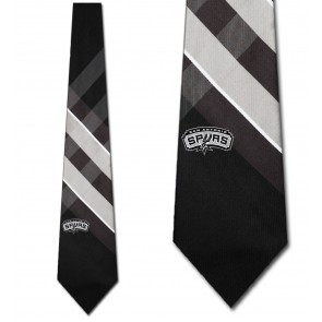 NBA San Antonio Spurs Grid Necktie