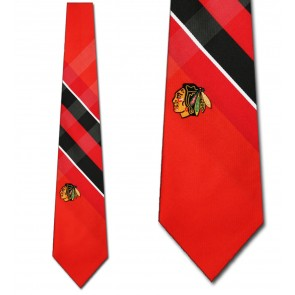 NHL Chicago Blackhawks Grid Necktie