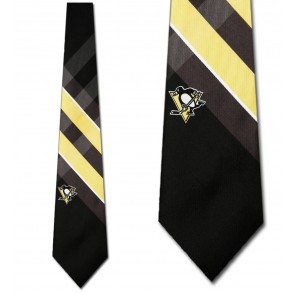 NHL Pittsburgh Penguins Grid Necktie