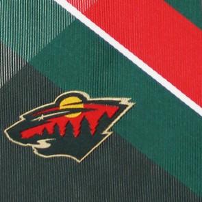 NHL Minnesota Wild Grid Necktie