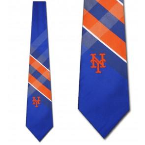 MLB New York Mets Grid Necktie