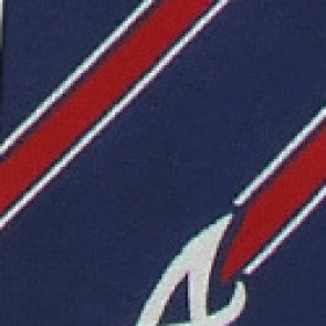 MLB Atlanta Braves Poly Stripe Necktie