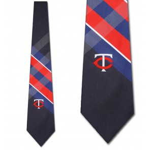 MLB Minnesota Twins Grid Necktie