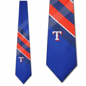 MLB Texas Rangers Grid Necktie