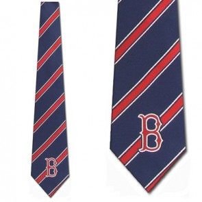 MLB Boston Red Sox Poly Stripe Necktie