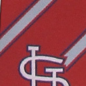 MLB St Louis Cardinals Poly Stripe Necktie