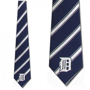 MLB Detroit Tigers Poly Stripe Necktie