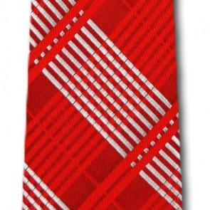 Nebraska Cornhuskers Skinny Plaid Necktie