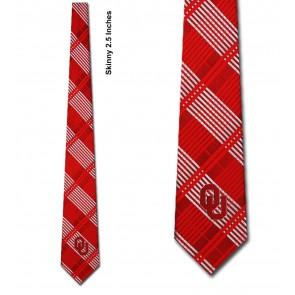 Oklahoma Sooners Skinny Plaid Necktie