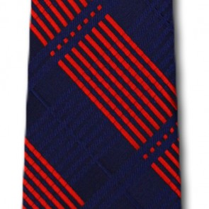 Ole Miss Rebels Skinny Plaid Necktie