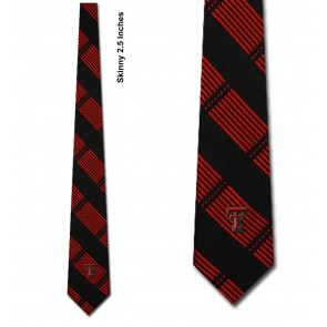 Texas Tech Red Raiders Skinny Plaid Necktie