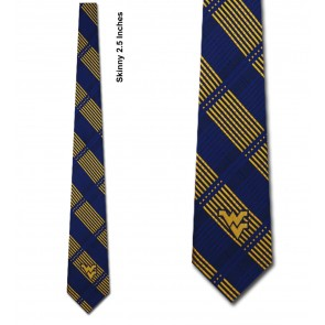 West Virginia Mountaineers Skinny Plaid Necktie