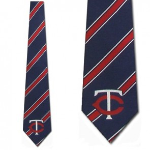 MLB Minnesota Twins Poly Stripe Necktie