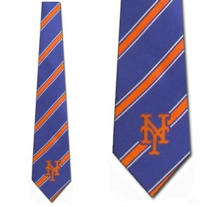 MLB New York Mets Poly Stripe Necktie