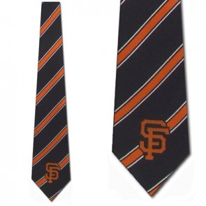 MLB San Francisco Giants Poly Stripe Necktie