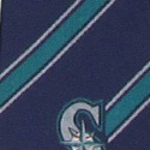MLB Seattle Mariners Poly Stripe Necktie