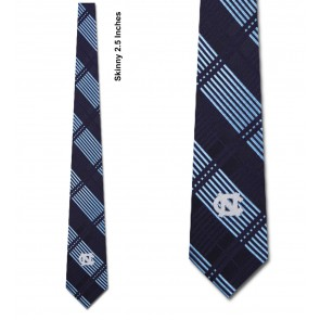 North Carolina Tar Heels Skinny Plaid Necktie