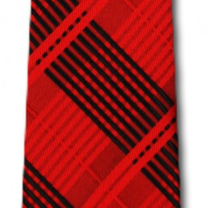 Arkansas Razorbacks Skinny Plaid Necktie