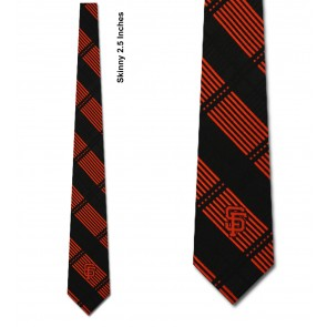 MLB San Francisco Giants Skinny Plaid Necktie