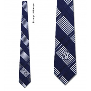 MLB New York Yankees Skinny Plaid Necktie