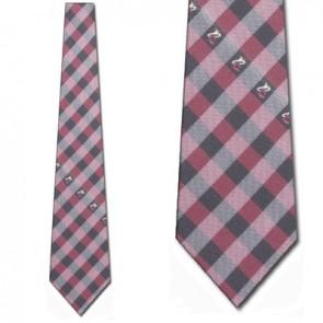 Miami Heat Woven Poly Check Necktie