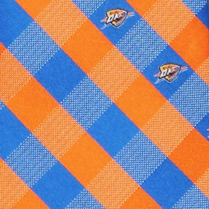 NBA Oklahoma City Thunder Woven Check Necktie