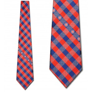 MLB Chicago Cubs Woven Check Necktie