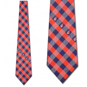 MLB Cleveland Indians Woven Check Necktie