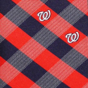 MLB Washington Nationals Woven Check Necktie