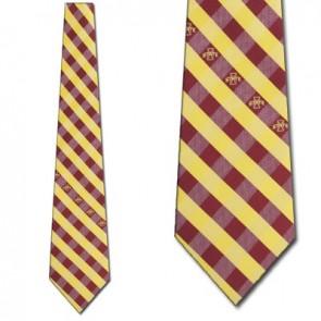 Iowa State Woven Check Necktie