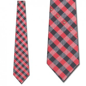 Louisville Cardinals Woven Check Necktie