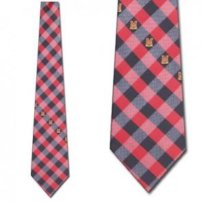 Maryland Terrarpins Woven Check Necktie
